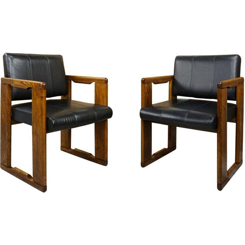Pair of vintage armchairs model Dialogo by Afra & Tobia Scarpa, Italian 1970s