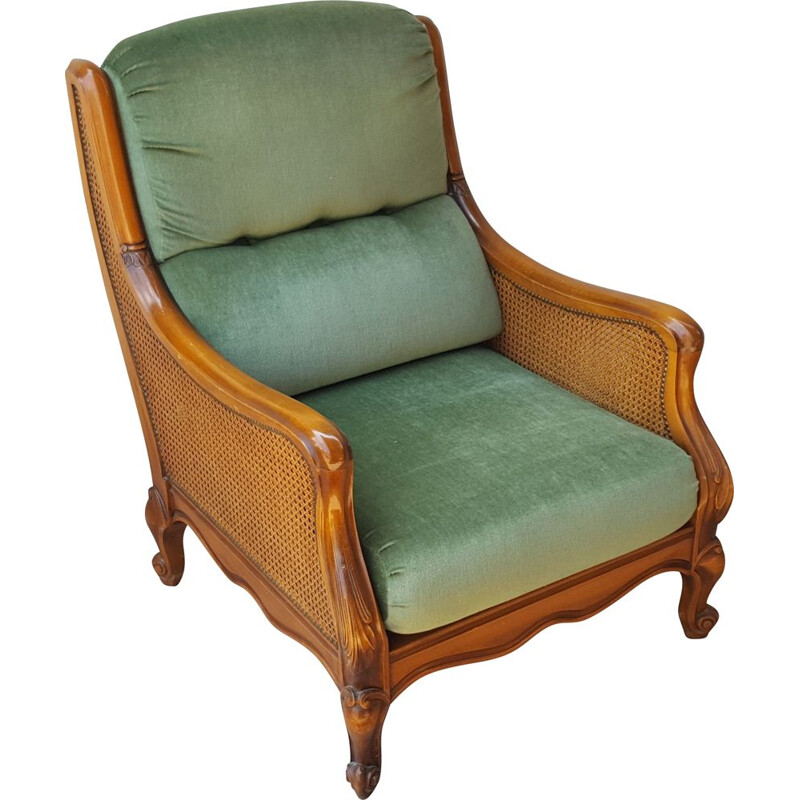 Vintage Rattan and wood lounge suite