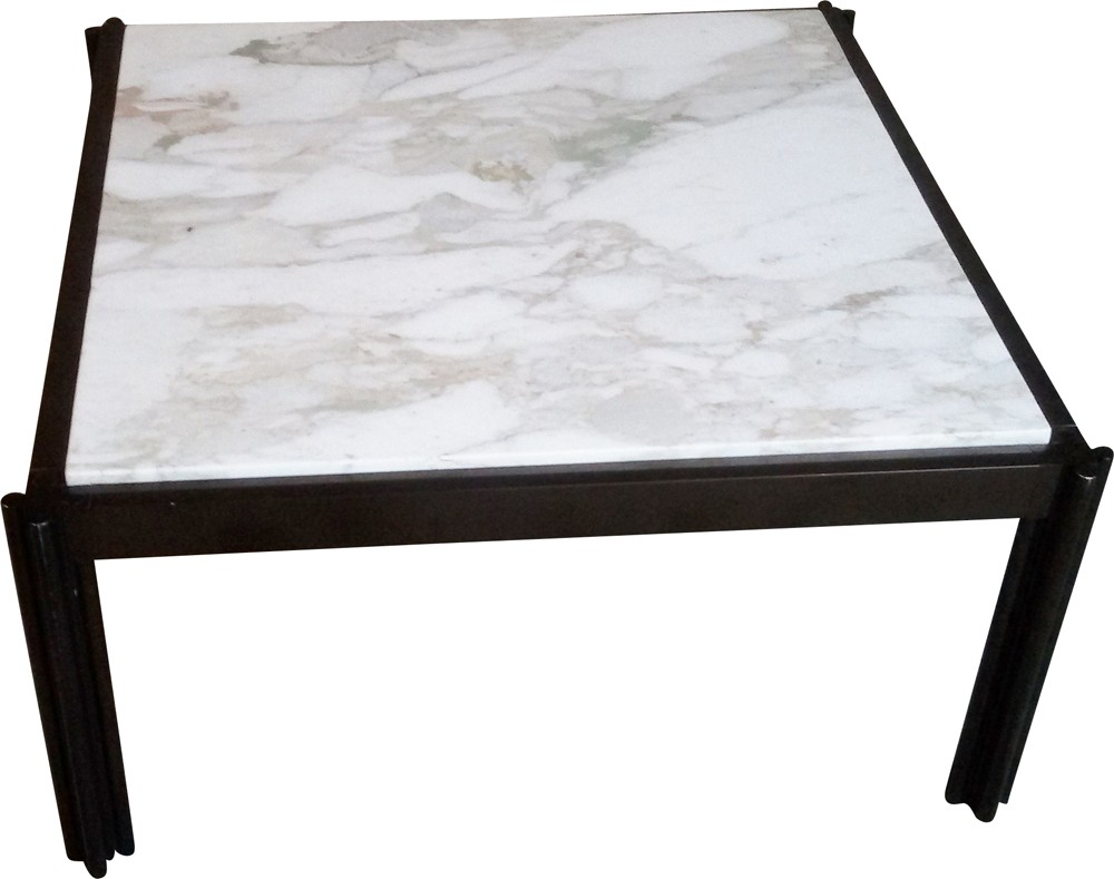Italian Coffee Tables Marble Italian Coffee Table In Aluminum And White Marble Georges