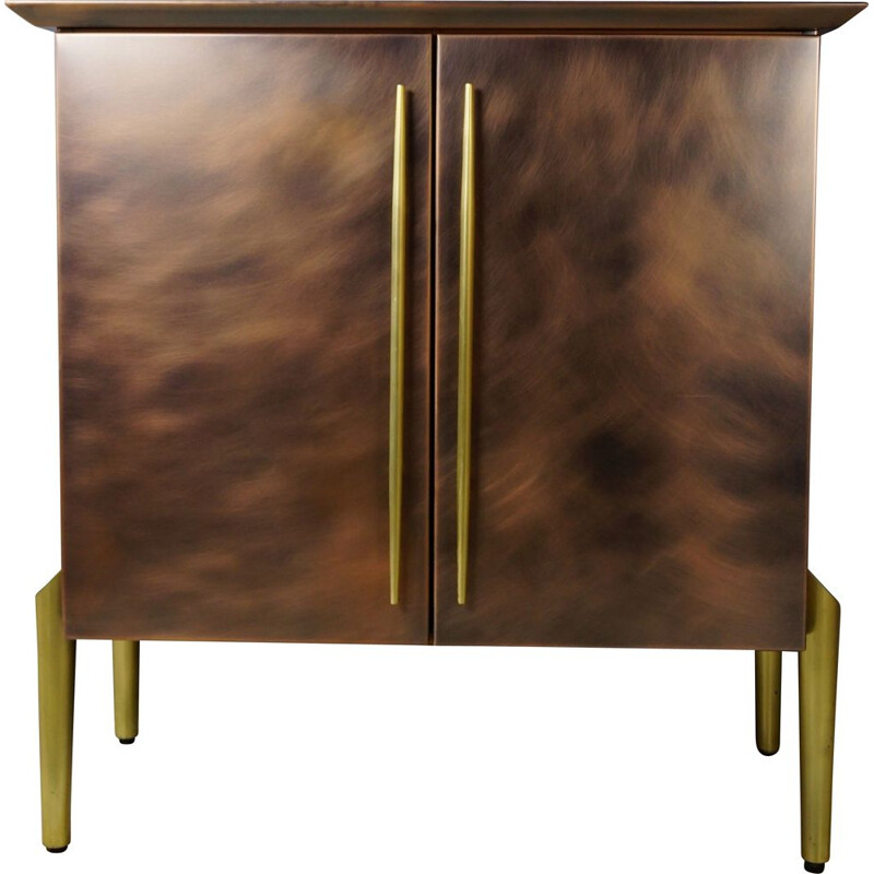 Vintage brass and copper bar furniture by Belgo Chrom