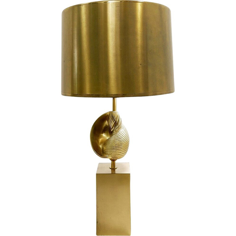 Vintage Shell desk lamp by Jaques Charles for Maison Charles 1960s