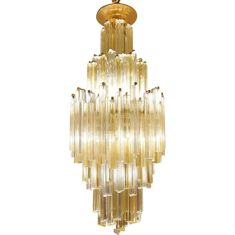 Vintage chandelier Cascade Murano by Paolo Venini 1970s