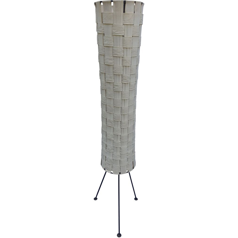 Vintage floor lamp with black metal feet