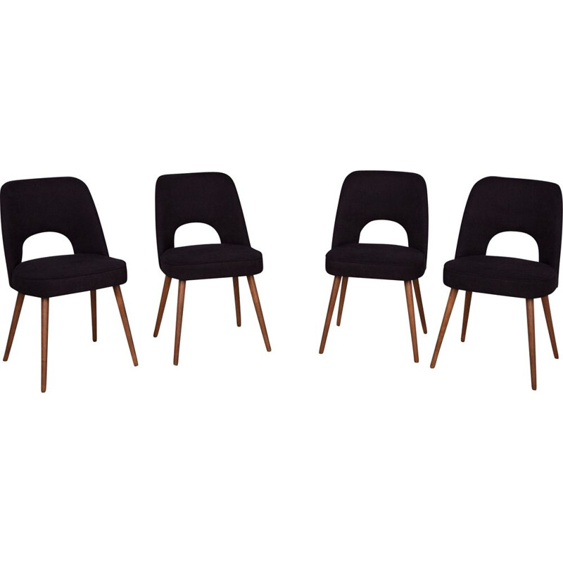 Set of 4 vintage Dining Chairs by Oswald Haerdtl for TON Czechoslovakia 1960s