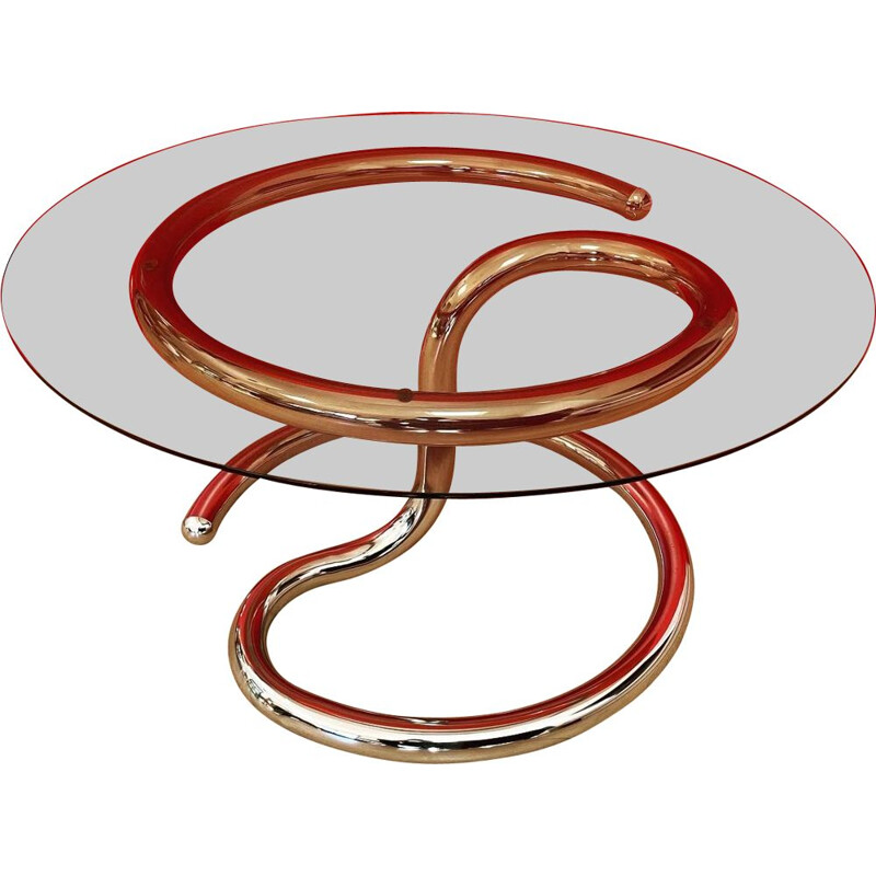 Vintage Anaconda coffee table by Paul Tuttle for Strässle 1971