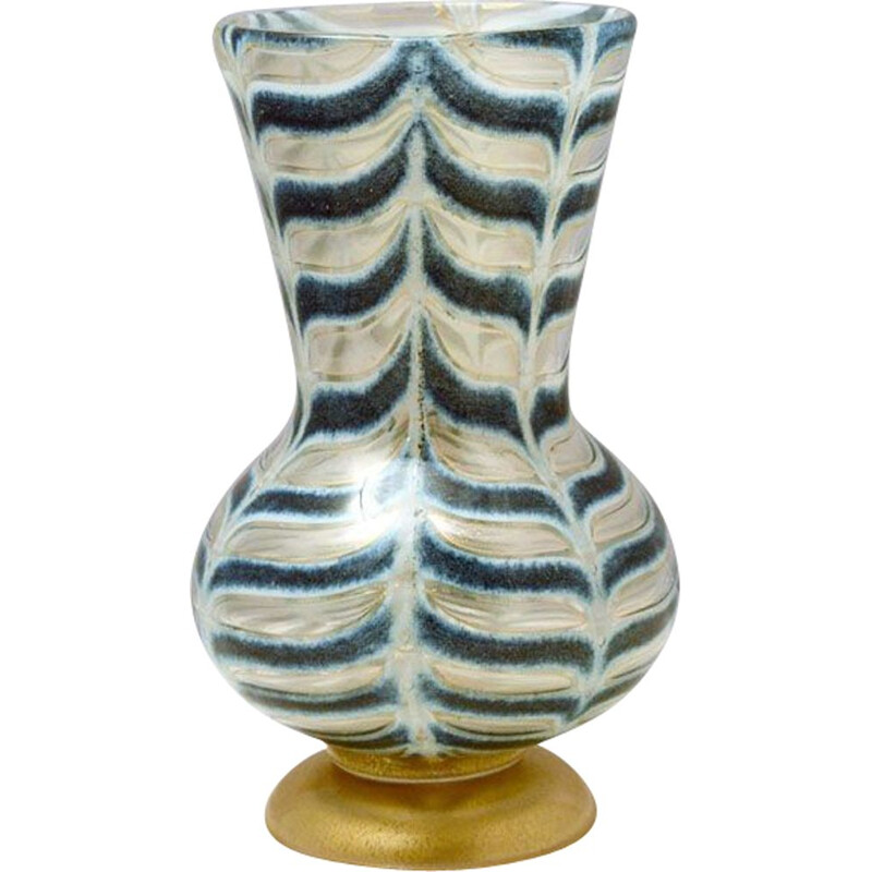 Vintage Graffito Barbarico Vase by Ercole Barovier for Barovier & Toso, 1969