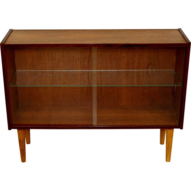 Vintage teak console-window, Sweden 1960