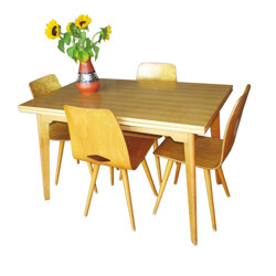 Dining table in beechwood - 1950s