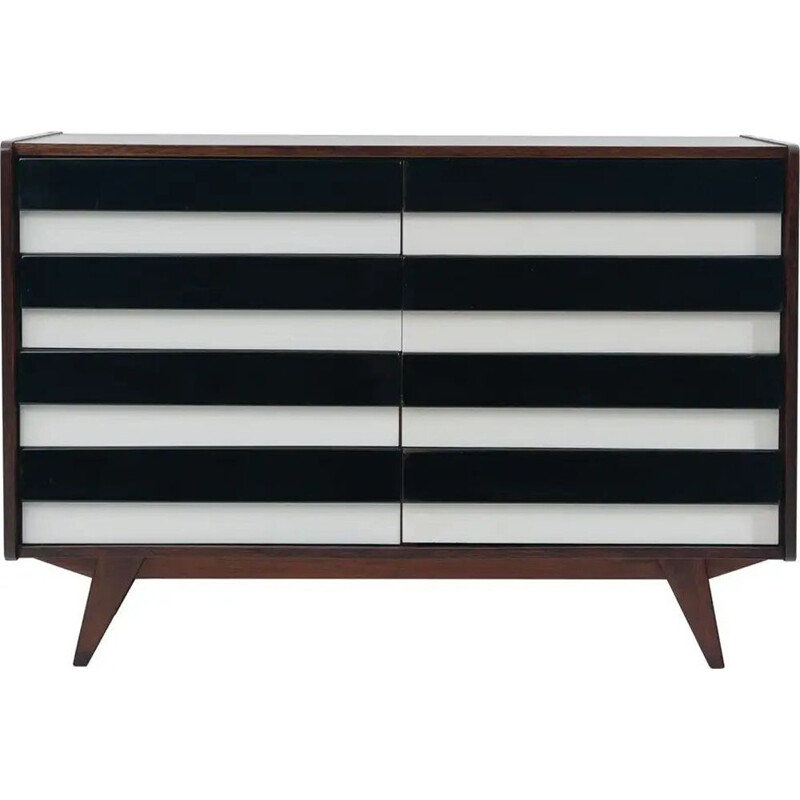 Vintage modernist chest of drawers U-453 by Jiří Jiroutek, Czechoslovakia 1960s