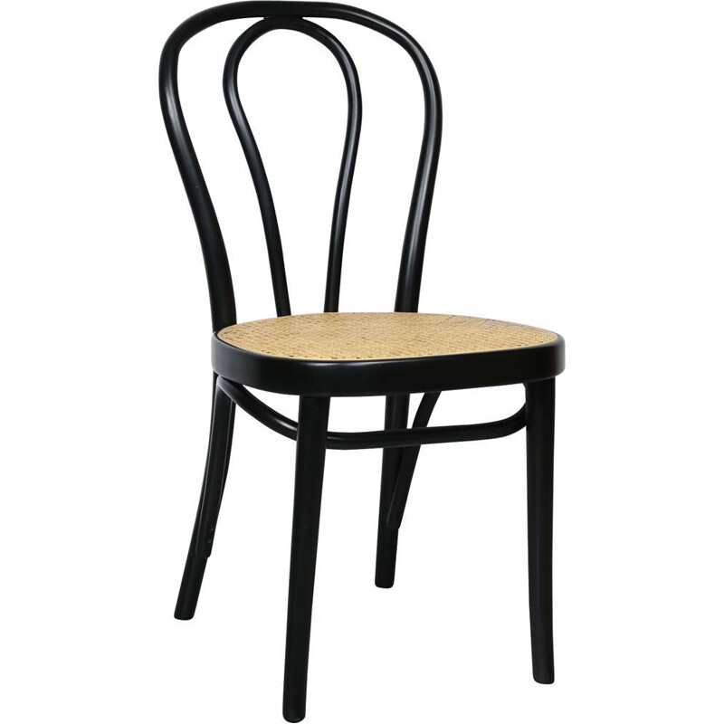Vintage black chair n218 by Michael Thonet