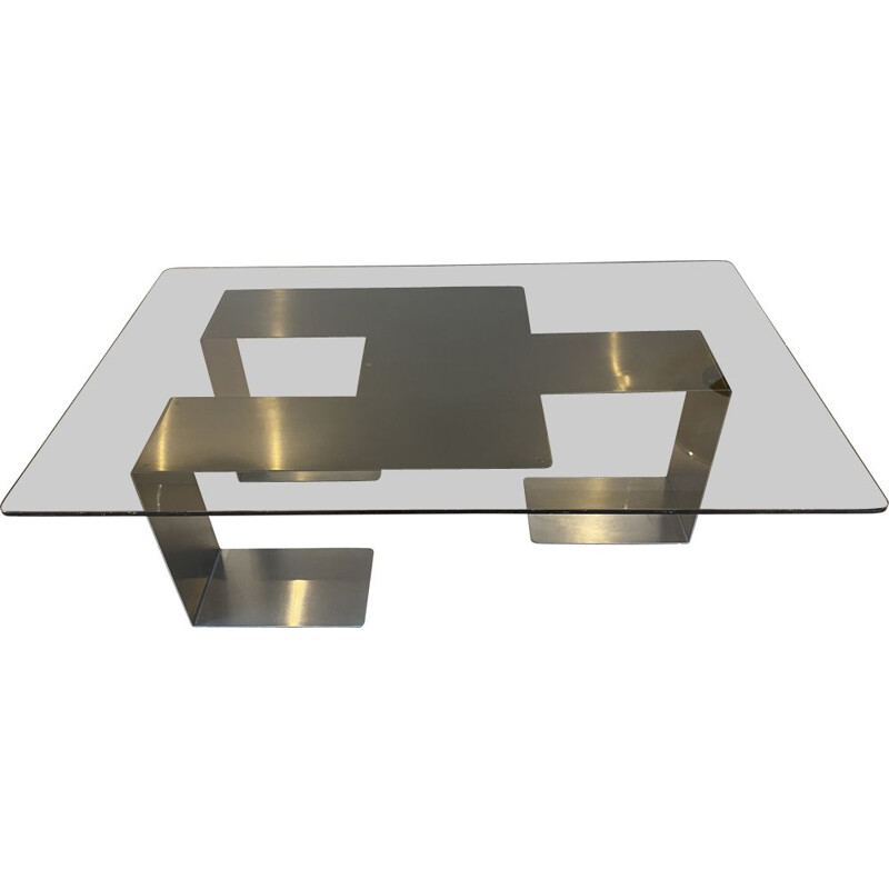 Vintage Colima coffee table by Jean-Pierre Mesmin for Bioject 1970