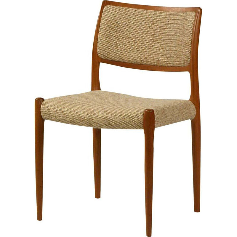 Vintage Teak Dining Chair Model 80 by Niels Otto Moller 1960s