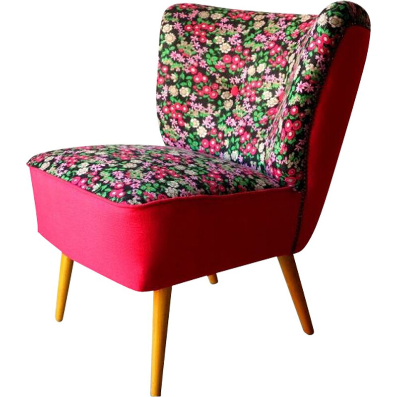 Vintage Cocktail Chair Floral 1950s