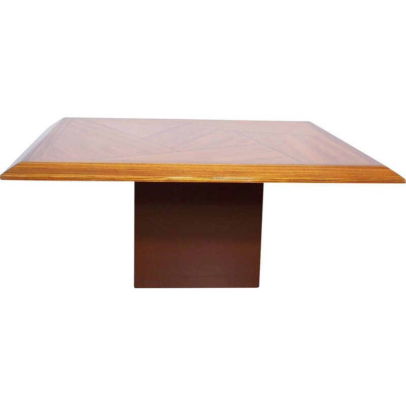 Vintage coffee table in wood marquetry