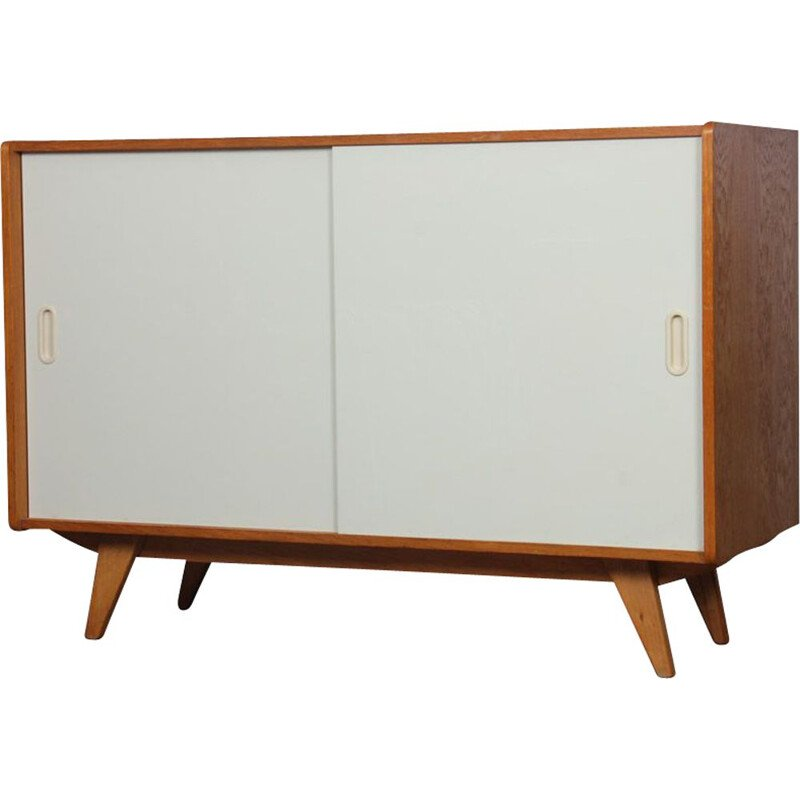 Vintage white highboard model U-452 by Jiri Jiroutek 1960