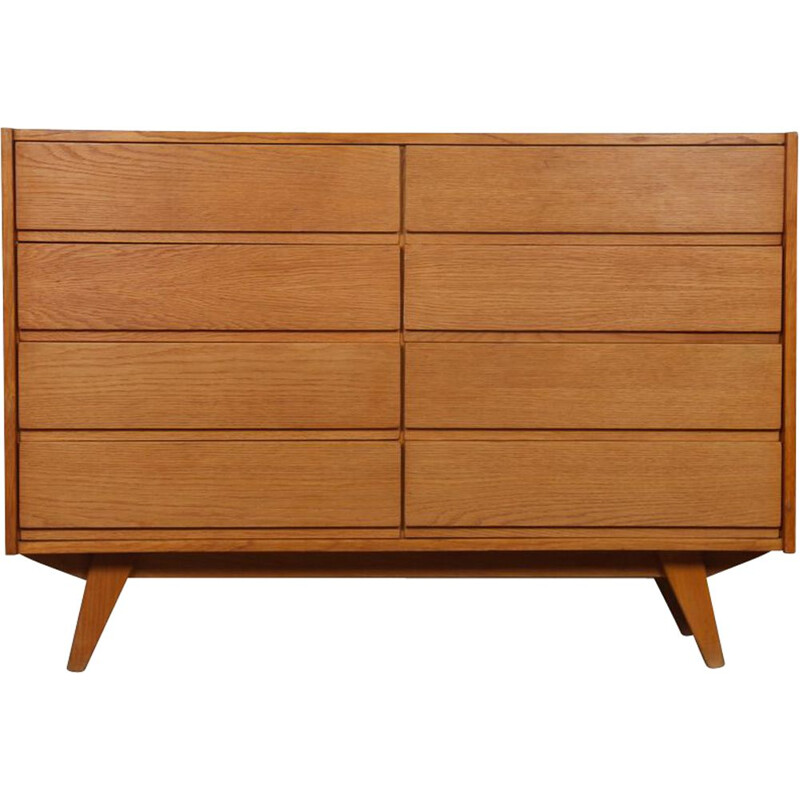 Vintage chest of drawers model U-453 by Jiri Jiroutek, Eastern Europe 1960