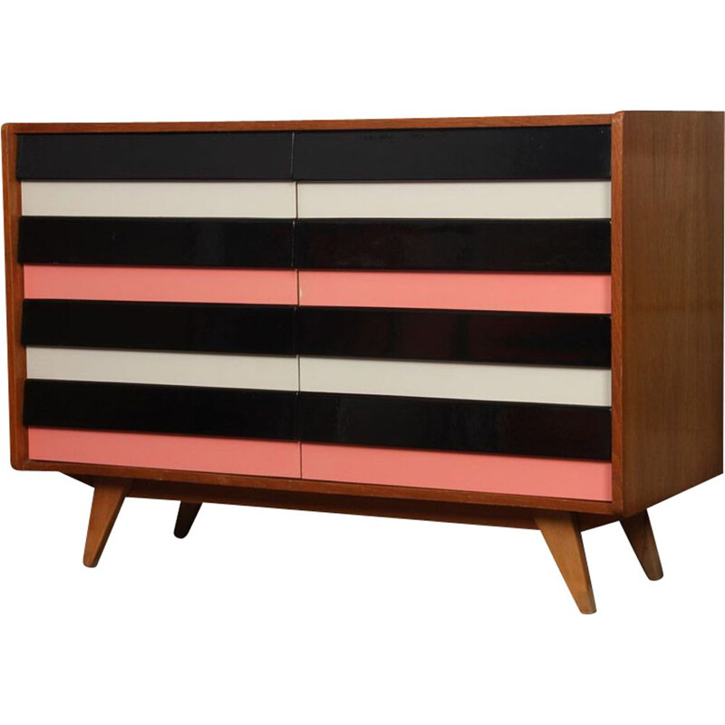 Vintage chest of drawers U-453 by Jiri Jiroutek, Pays de l'Est 1960