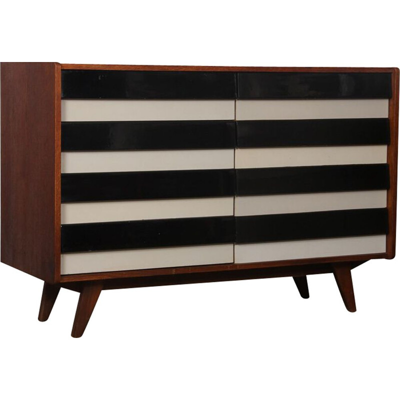 Vintage chest of drawers model U-453 by Jiri Jiroutek 1960