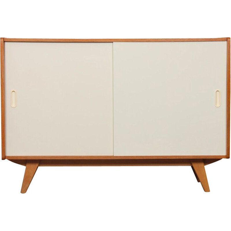 Vintage highboard model U-452 white doors by Jiri Jiroutek 1960