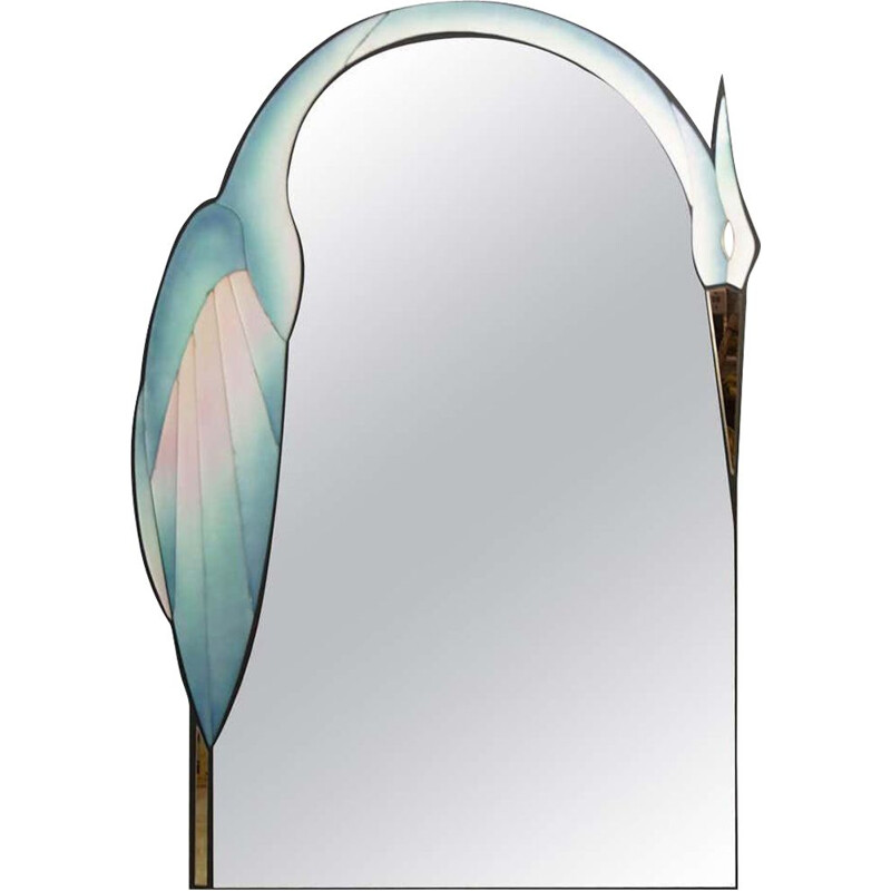 Vintage mirror by David Marshall 1990s