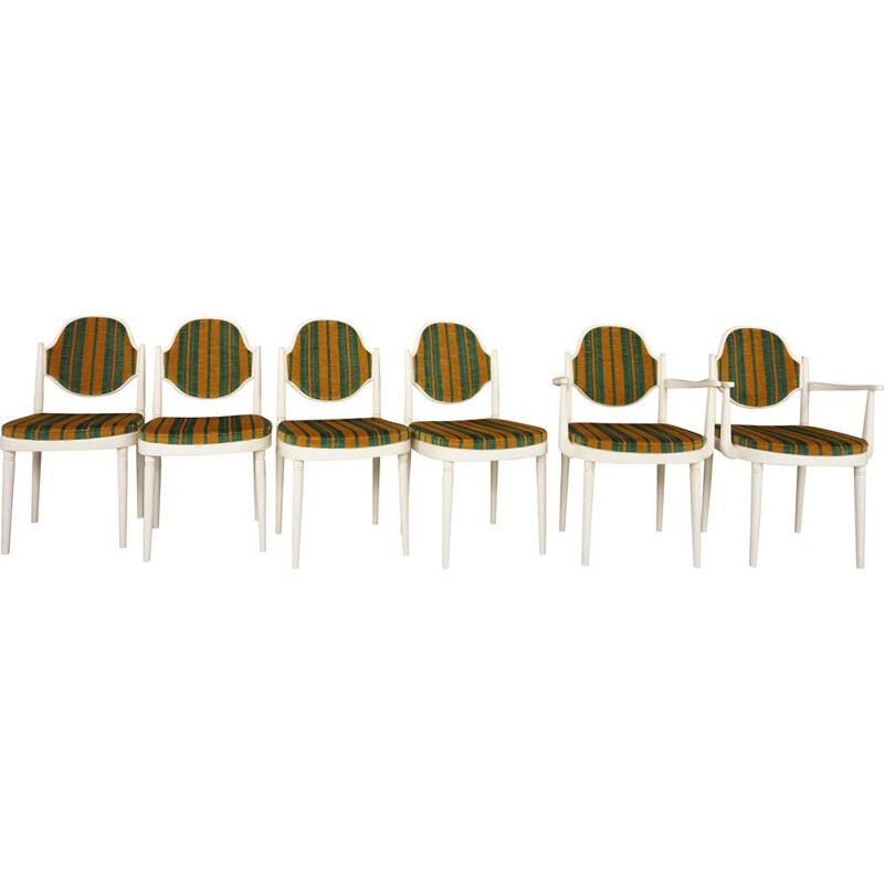Lot of 6 vintage Thonet seats by Hanno Von Gustedt 1960s