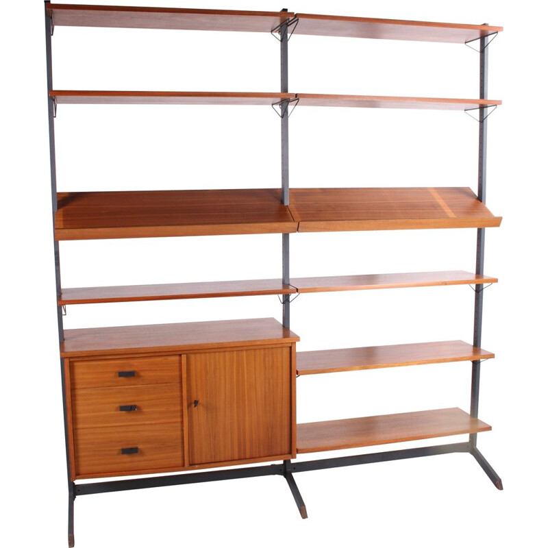 Vintage Olof Pira adjustable Wall unit or bookcase, Sweden 1960s