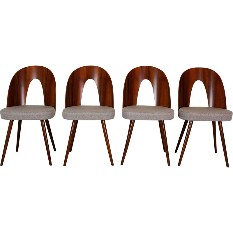 Set of 4 vintage Dining Chairs by Antonin Suman for Mier 1960s