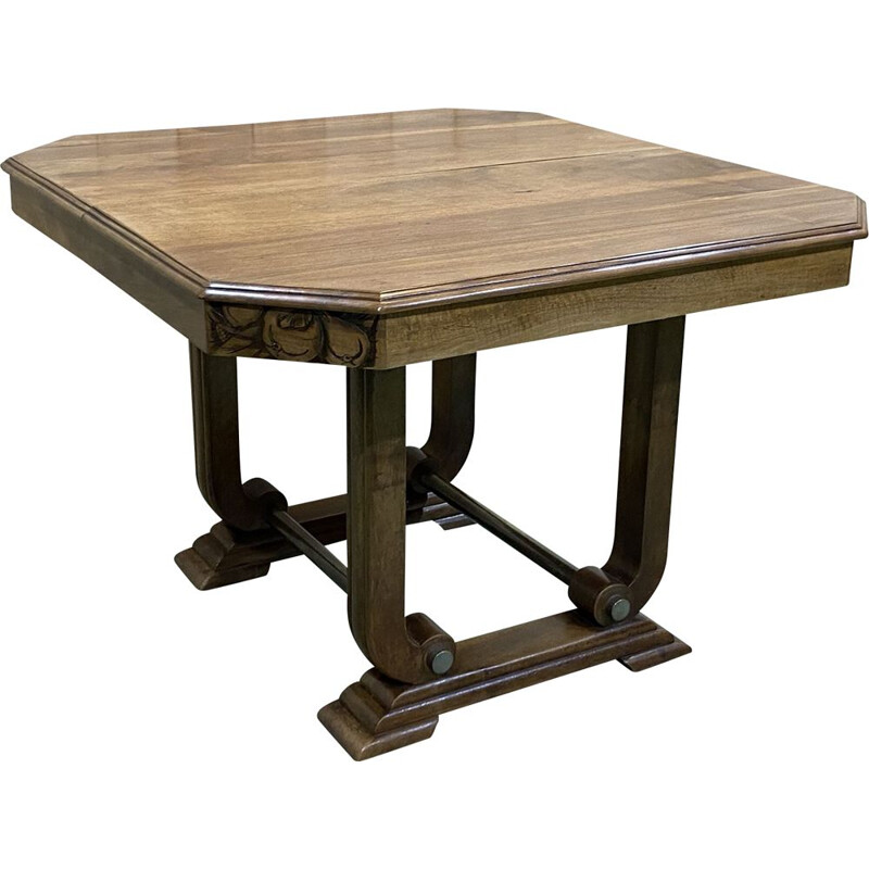 Vintage art deco walnut table 1930s