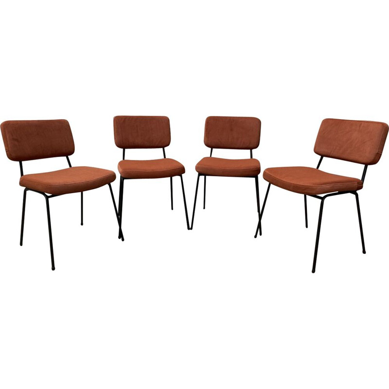 Set of 4 vintage chairs by André Simard 1960s