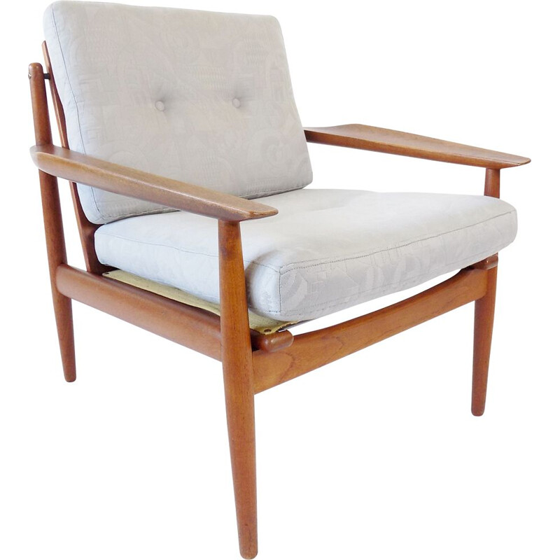 Vintage Glostrup teak chair Easychair by Arne Vodder 1960s