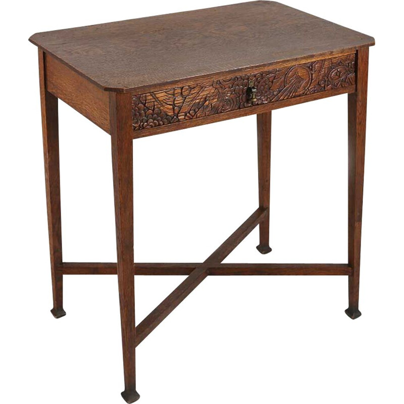 Vintage side table Art Deco French 1930s