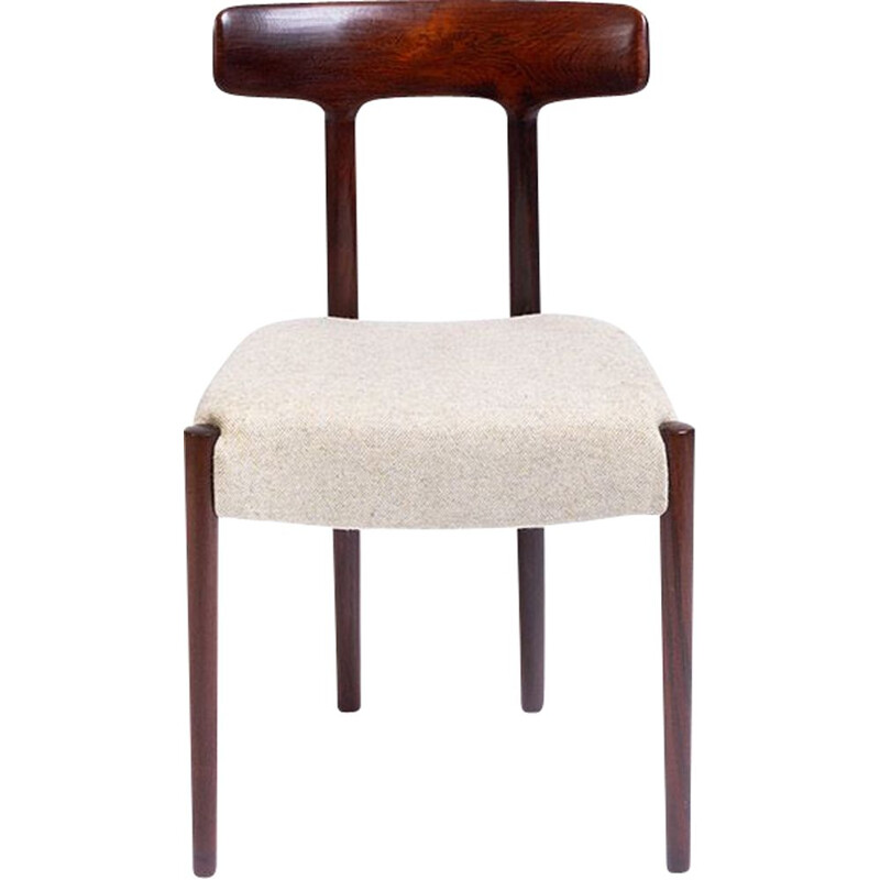 Vintage solid rosewood chair by Fristho, Netherlands 1950