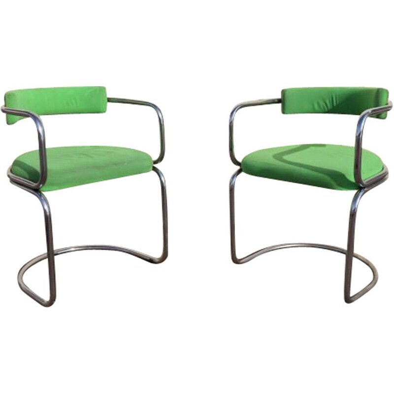 Pair of vintage armchairs by Zougoise Victoria, Switzerland 1970s