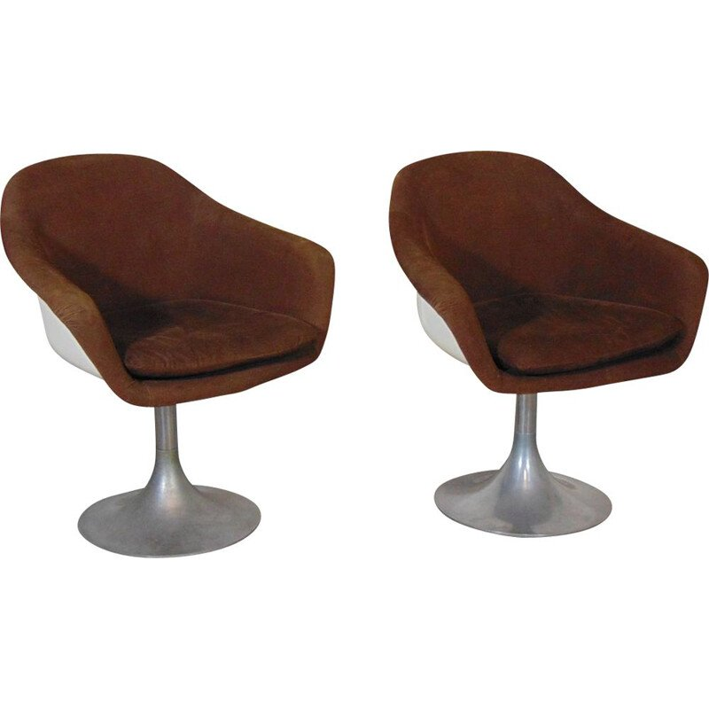 Pair of vintage fiberglass armchairs 1960