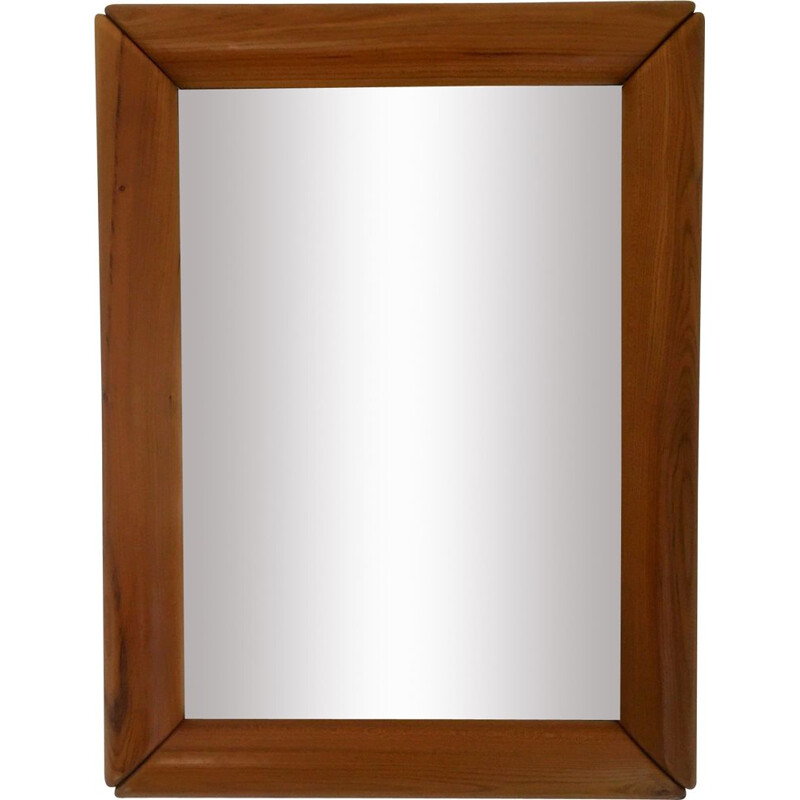 Vintage mirror in solid elm 1980