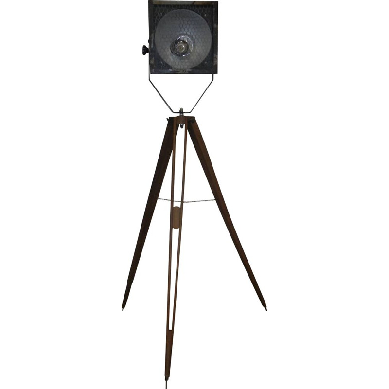 Vintage industrial floor lamp 1950