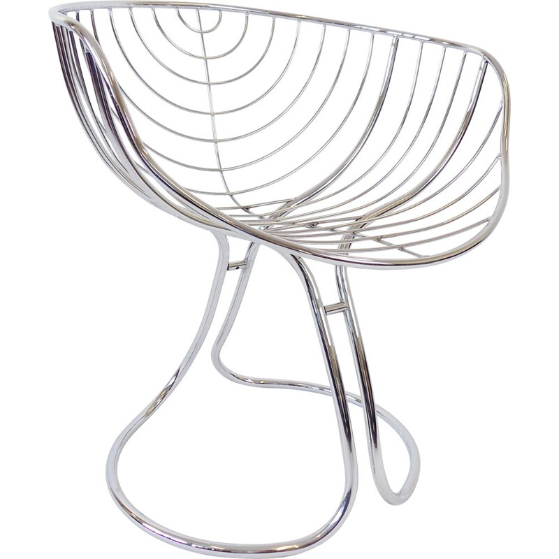 Vintage Rima Pan Am chrome chair by Gastone Rinaldi