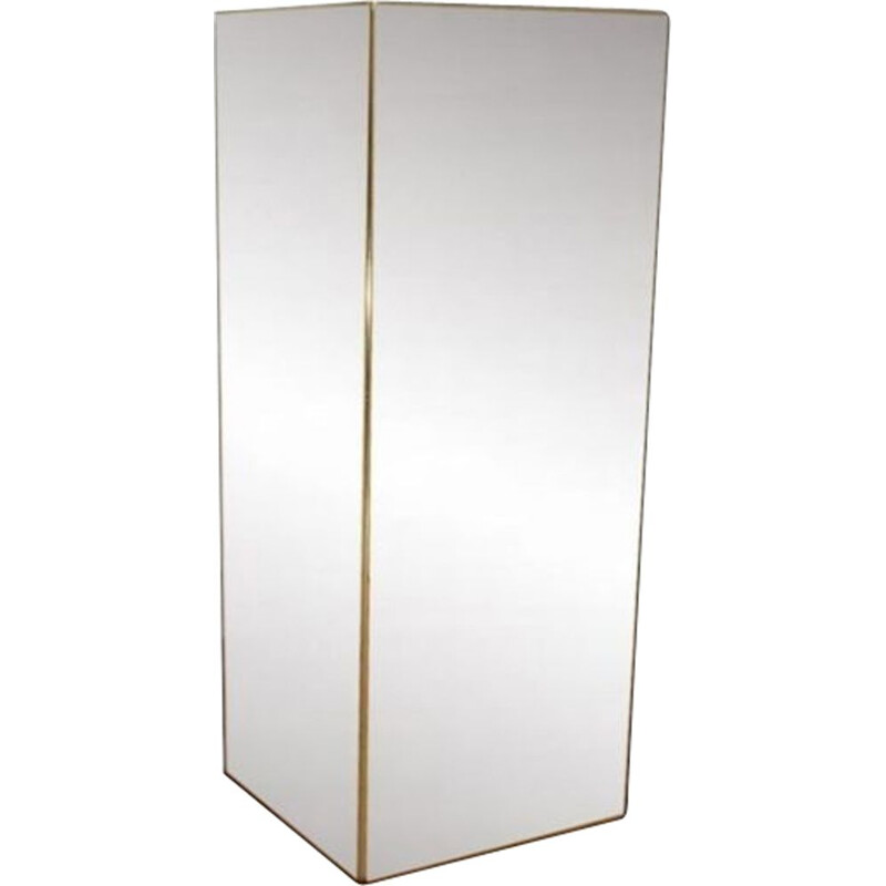 Vintage column in mirror and brass 1970