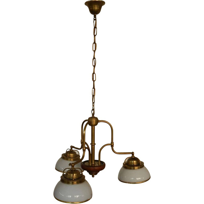 Vintage brass chandelier 1970