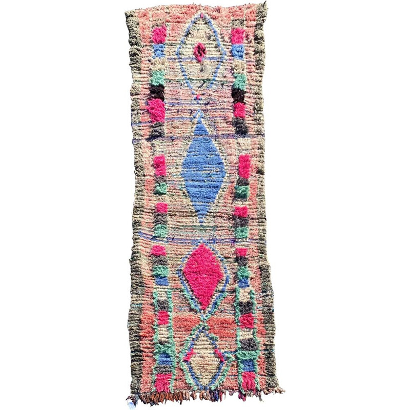 Vintage carpet Couloir Berbere Boujaad, Morocco 1970s