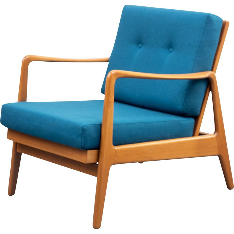 Vintage armchair walnut with relax position 1950s
