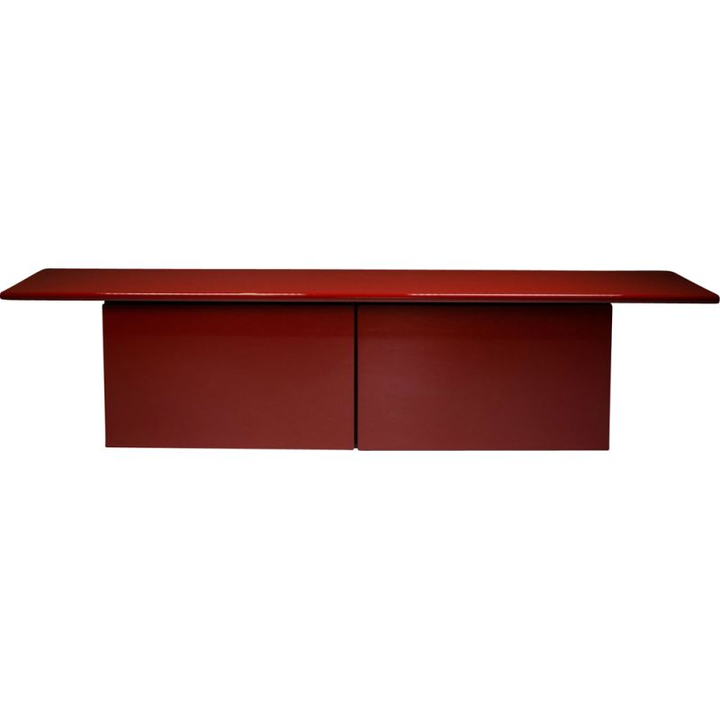 Vintage Red lacquer credenza by Giotto Stoppino for Acerbis 1977s