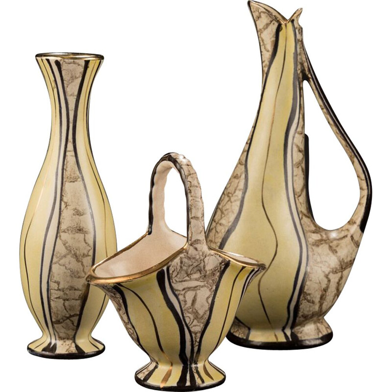 Vintage Vase Set by Josef Koch 1950s