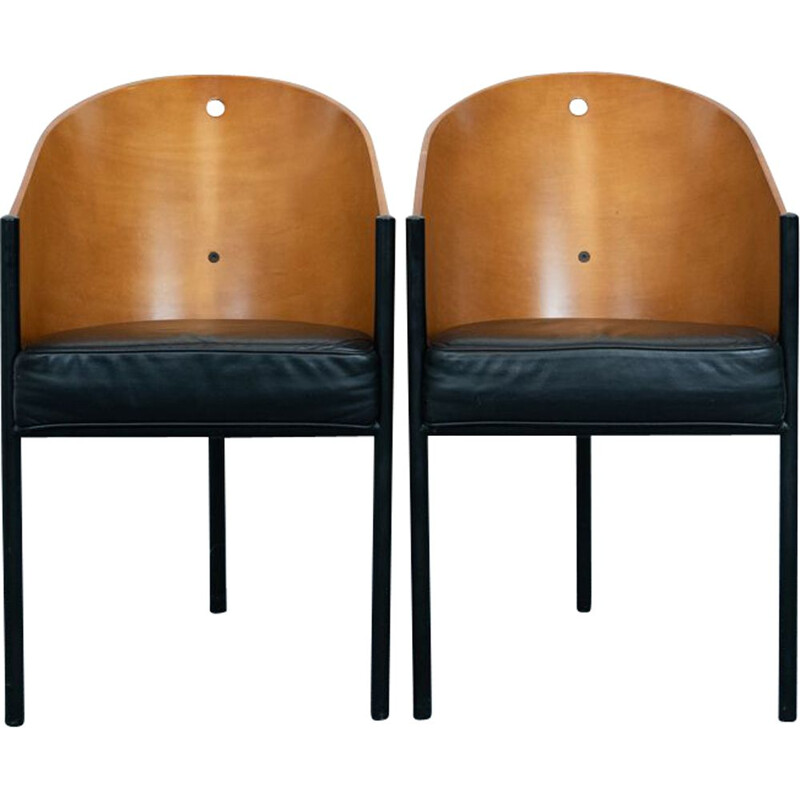 Pair of vintage Costes dining chairs by Philippe Starck for Driade, Italy 1984s