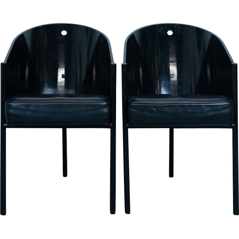 Pair of vintage Beech wood Costes dining chair by Philippe Starck for Driade, Italy 1984s