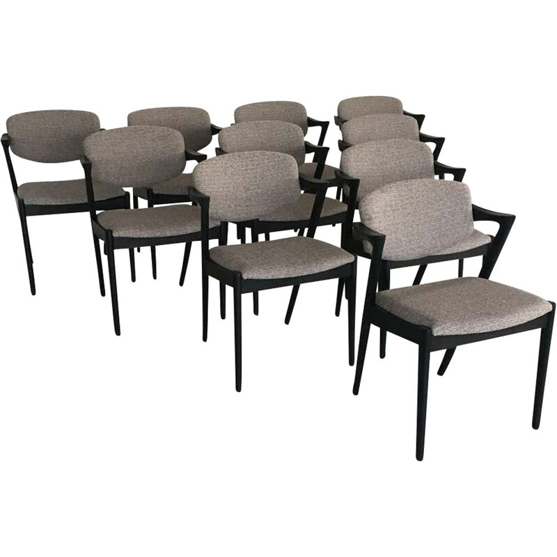 Set of 10 vintage Dining Chairs by Kai Kristiansen