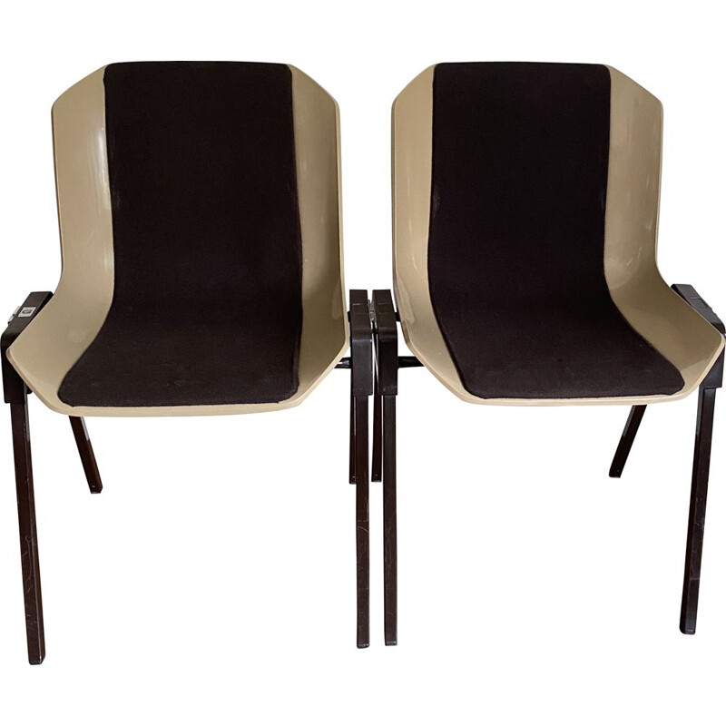 Pair of vintage chairs Grosfillex by Albert Jacob 1970s