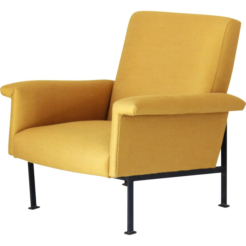 Vintage yellow armchair 1950s