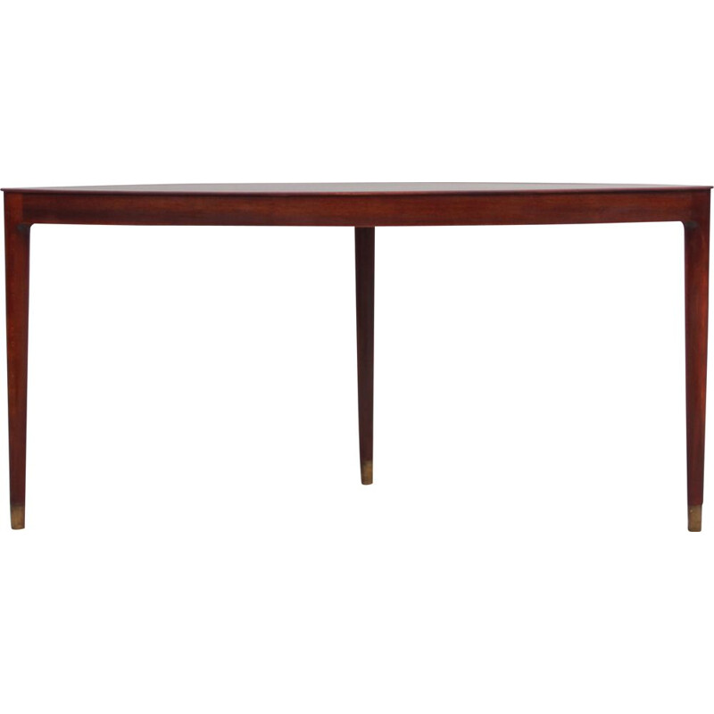 Vintage Mahogany half moon coffee table or side table, Scandinavian