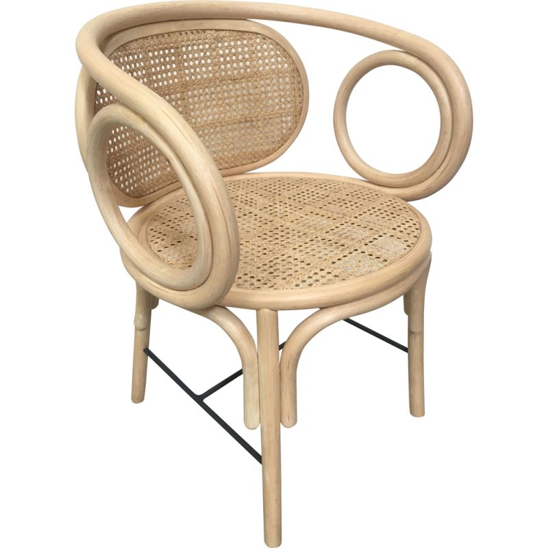 Vintage armchair in rattan and wickerwork